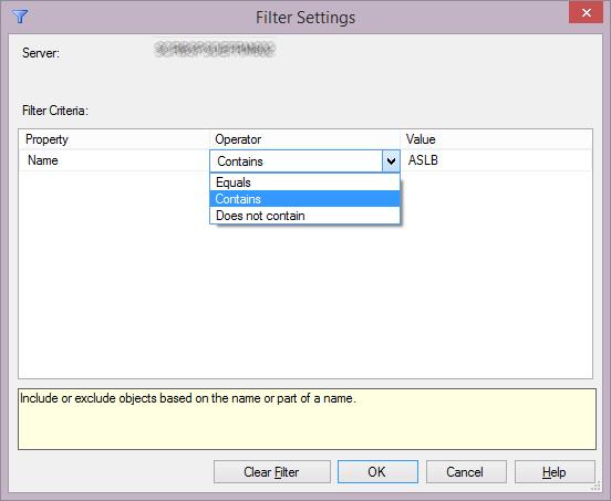 SQL Agent Jobs Filter